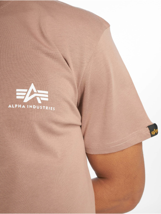 Alpha Industries T-Shirt Basic Small Logo braun