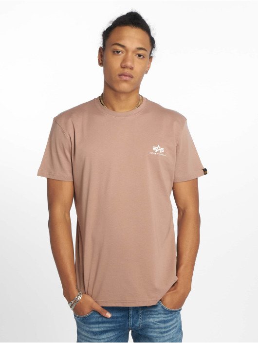 Alpha Industries T-Shirt Basic Small Logo brun