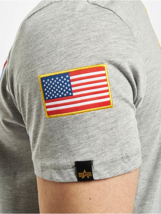 Alpha Industries T-Shirt Space Shuttle grau