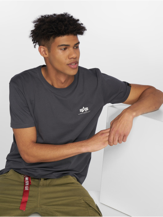 Alpha Industries T-Shirt Basic Small Logo grau