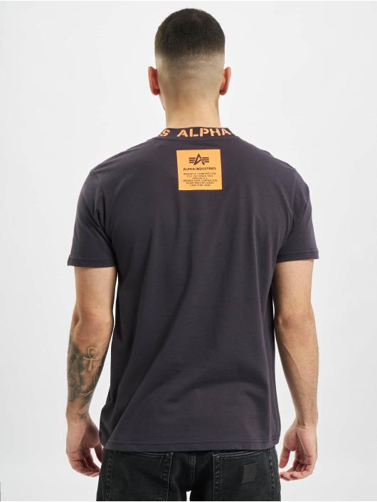 Alpha Industries T-Shirt Neck Print grau