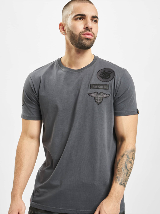 Alpha Industries t-shirt Air Crew grijs