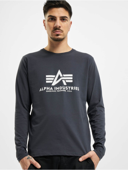Alpha Industries T-Shirt manches longues Basic bleu