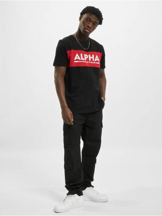 Alpha Industries T-Shirt Alpha Inlay noir