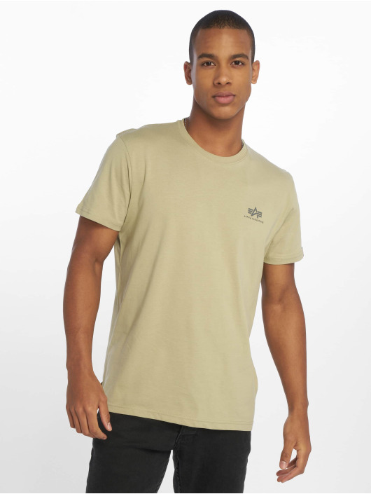 Alpha Industries t-shirt Basic Small Logo olijfgroen