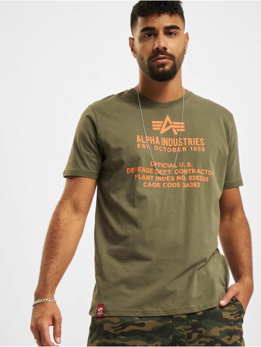 Alpha Industries t-shirt Fundamental olijfgroen