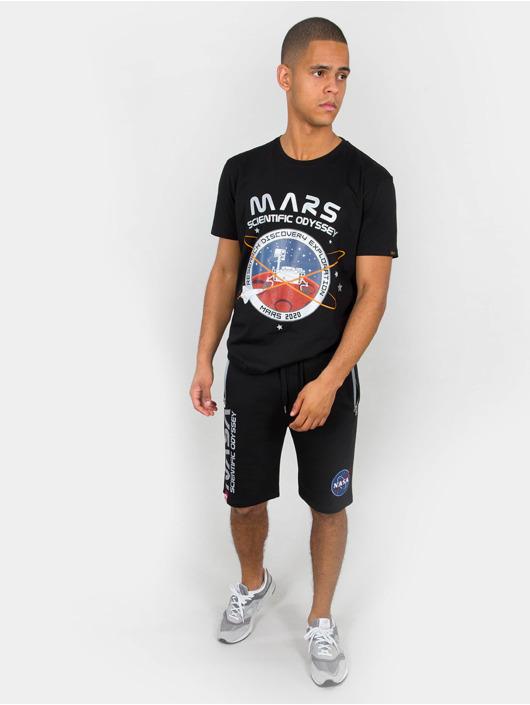 Alpha Industries T-Shirt Mission To Mars schwarz