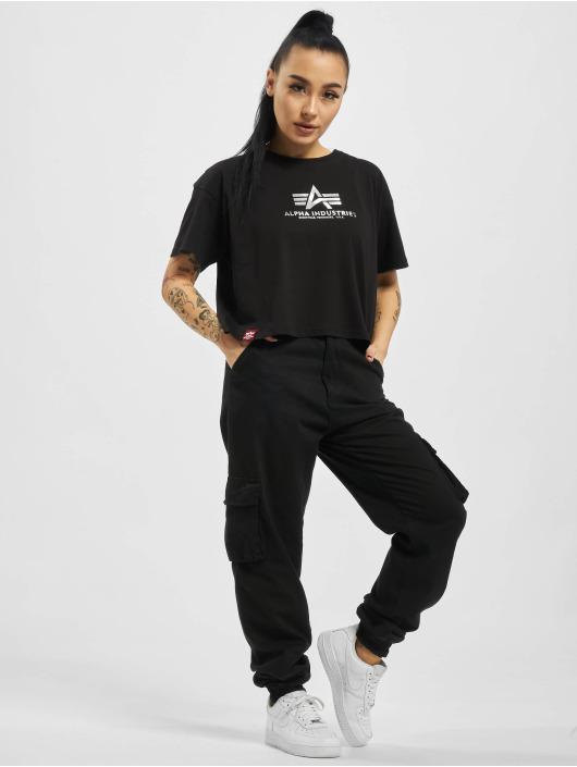 Alpha Industries T-Shirt Basic Cos Foil Print schwarz