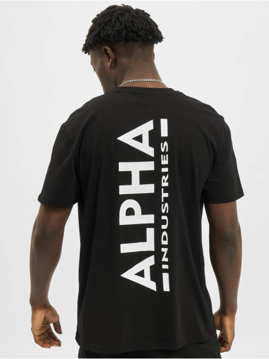 Alpha Industries T-Shirt Backprint schwarz