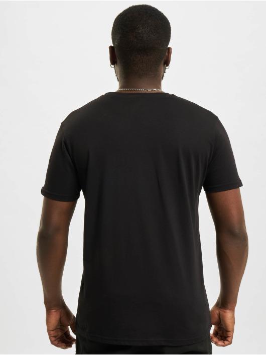 Alpha Industries T-Shirt Label Foil Print schwarz