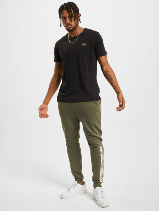 Alpha Industries T-Shirt Backprint Camo Print schwarz