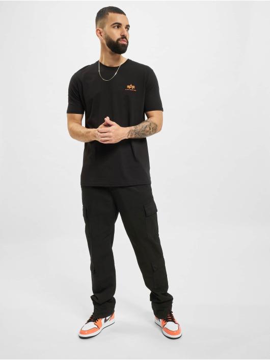 Alpha Industries T-Shirt Backprint  Reflective Print schwarz