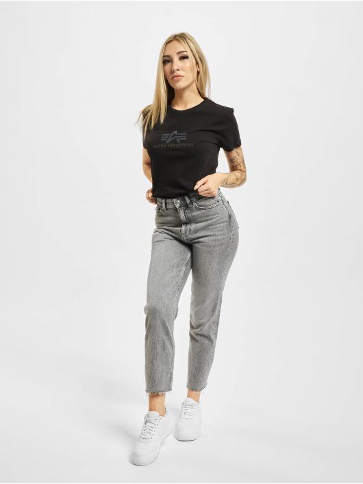 Alpha Industries T-Shirt New Basic Rainbow Print schwarz