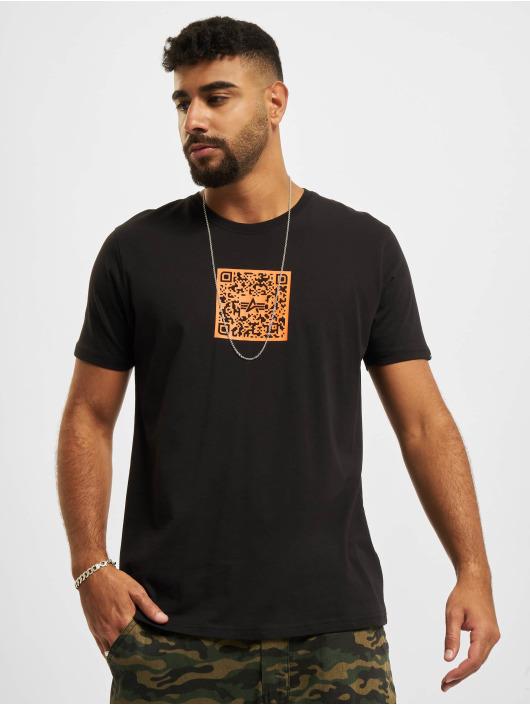 Alpha Industries T-Shirt Qr Code schwarz