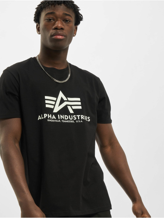 Alpha Industries T-shirt Basic Kryptonite svart