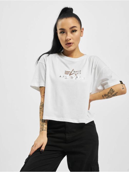 Alpha Industries T-Shirt Basic Cos Foil Print weiß