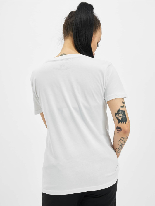 Alpha Industries T-Shirt New Basic Foil Print weiß