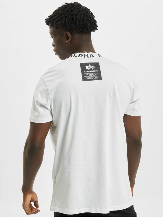 Alpha Industries T-Shirt Neck Print weiß