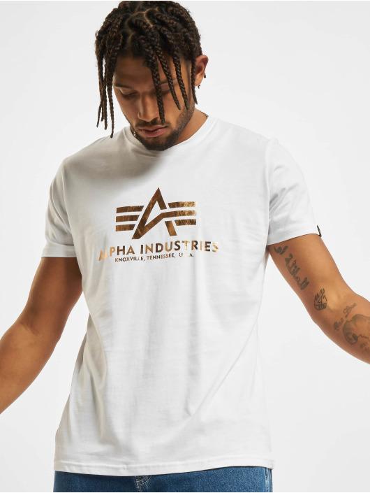 Alpha Industries T-Shirt Basic Foil Print weiß