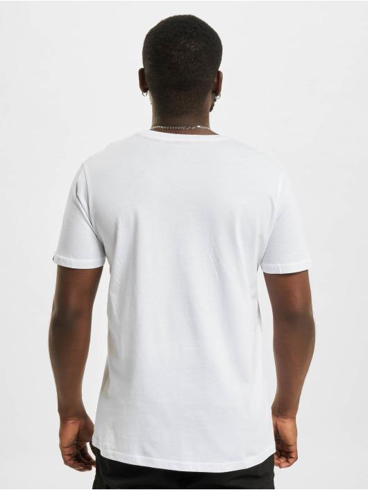 Alpha Industries T-Shirt Label Foil Print weiß
