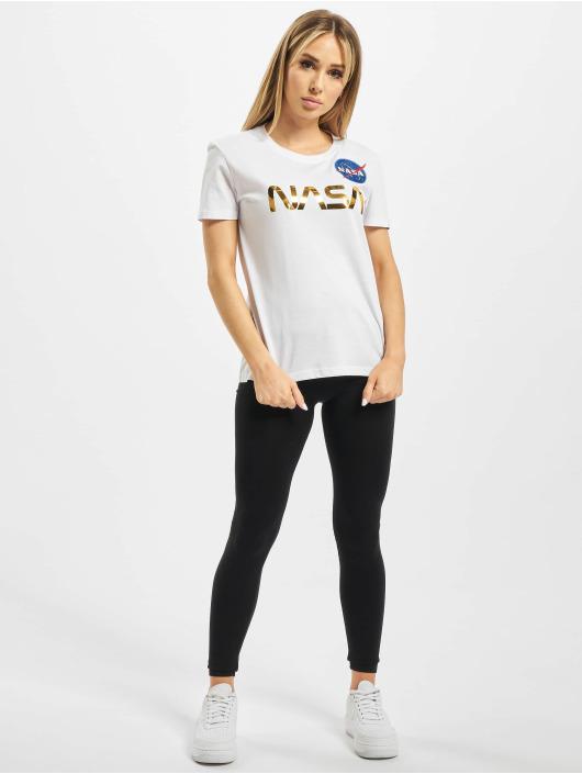 Alpha Industries T-Shirt Nasa PM T white