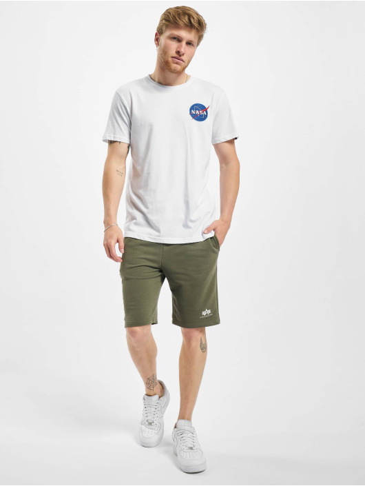 Alpha Industries T-Shirt Space Shuttle white