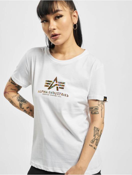 Alpha Industries T-Shirt New Basic Hol. Print white