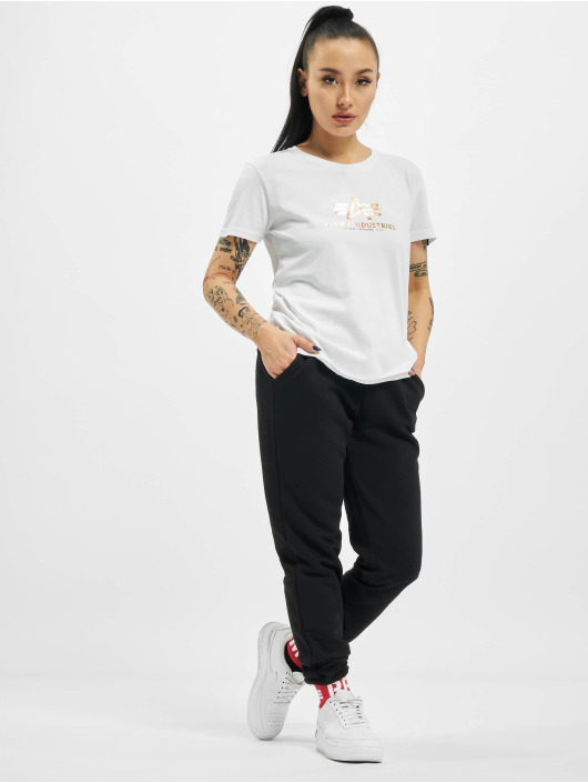 Alpha Industries t-shirt New Basic Foil Print wit