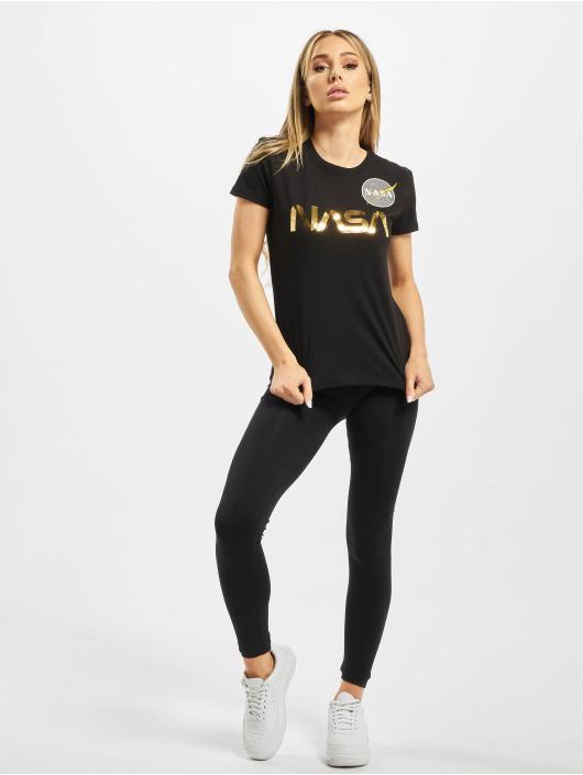 Alpha Industries t-shirt Nasa PM T zwart