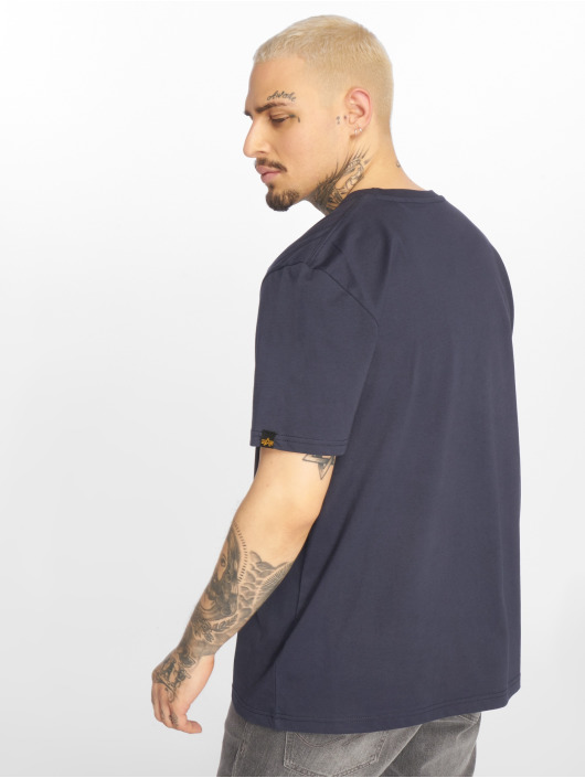 Alpha Industries T-shirts Basic Small Logo blå