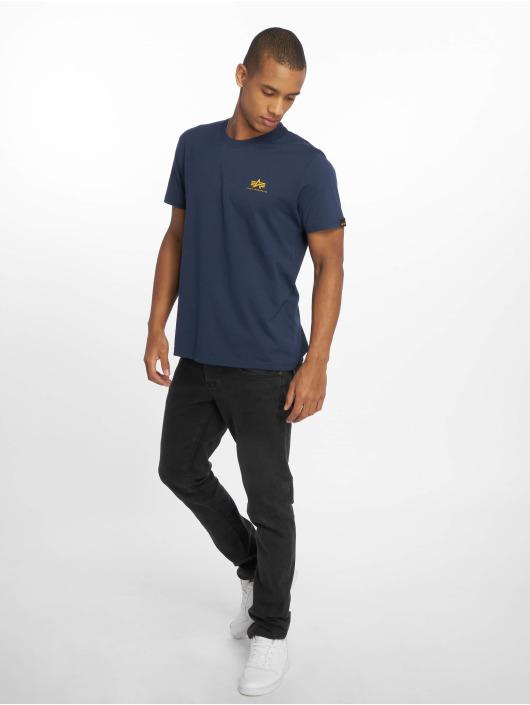 Alpha Industries T-shirts Basic Small Logo blå