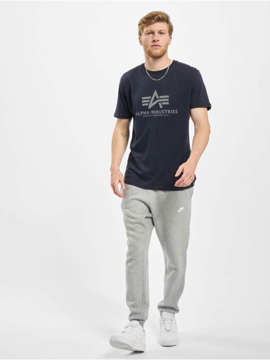 Alpha Industries T-shirts Basic Reflective Print blå