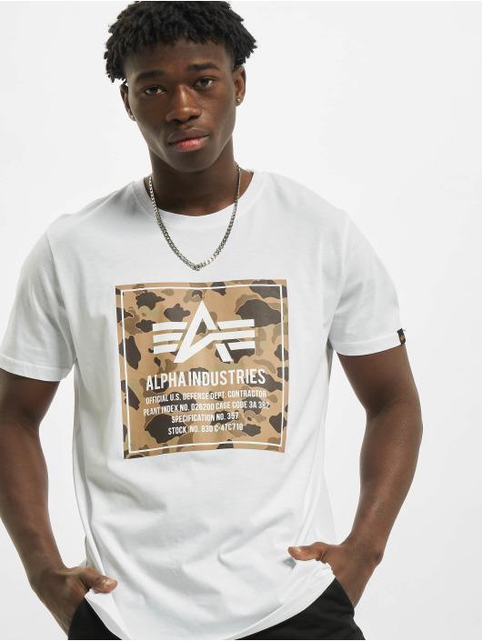 Alpha Industries T-shirts Camo Block hvid