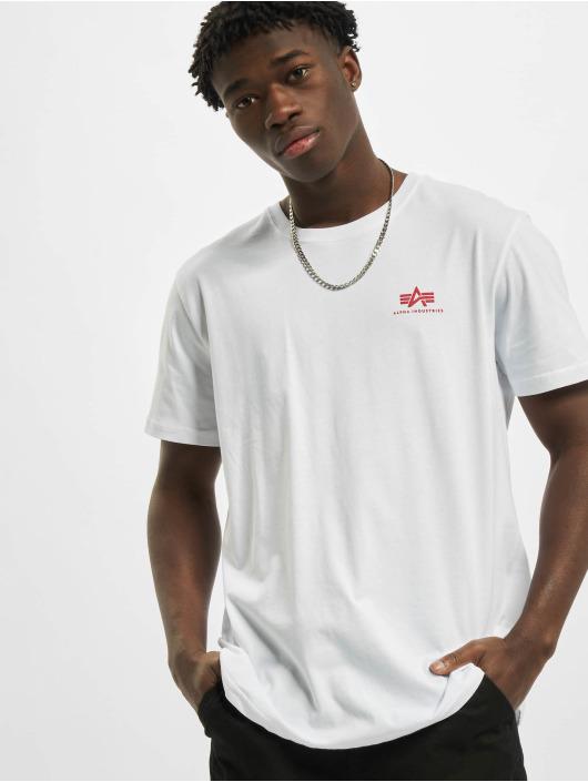 Alpha Industries T-shirts Backprint hvid