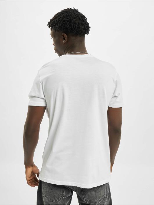 Alpha Industries T-shirts Basic Small Logo Foil Print hvid