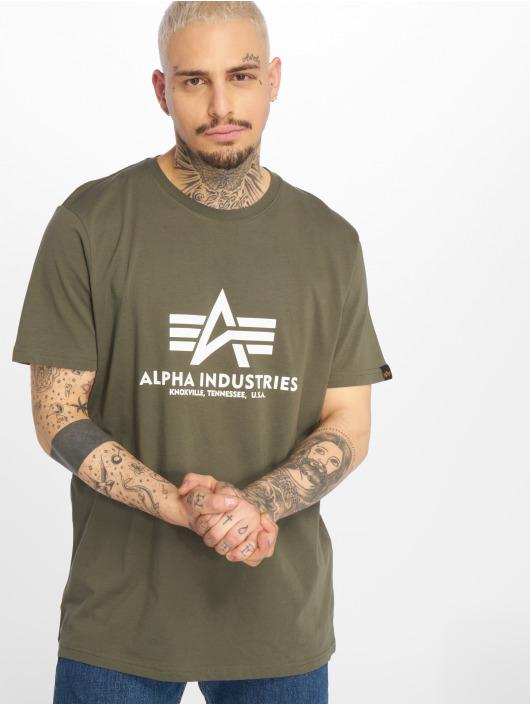 Alpha Industries T-shirts Basic oliven