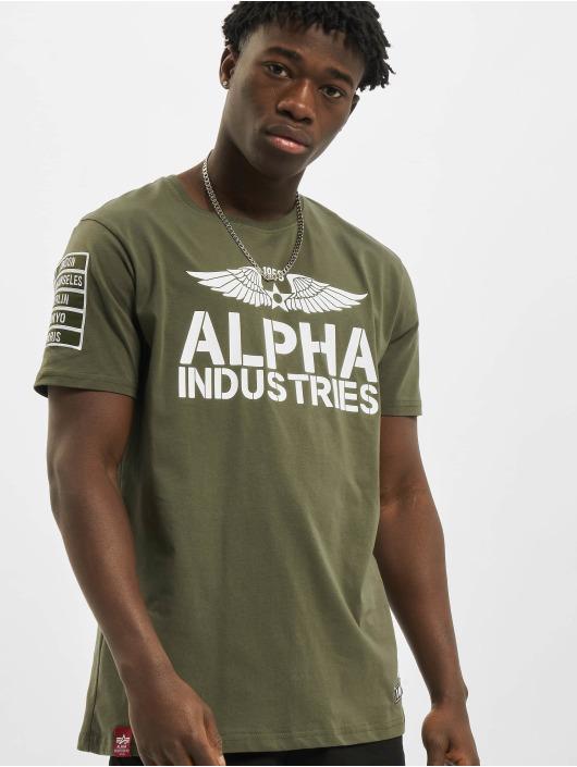 Alpha Industries T-shirts Rebel oliven