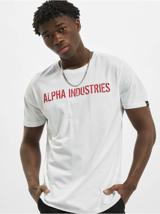 Alpha Industries T-Shirty RBF Moto bialy