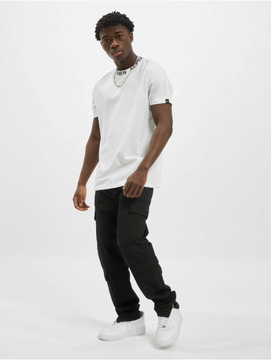 Alpha Industries T-Shirty Neck Print bialy