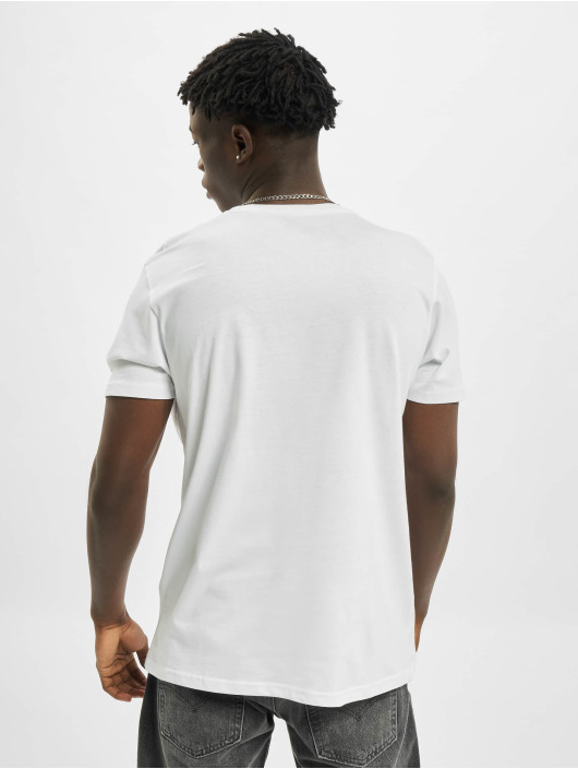 Alpha Industries T-Shirty Basic Small Logo Foil Print bialy