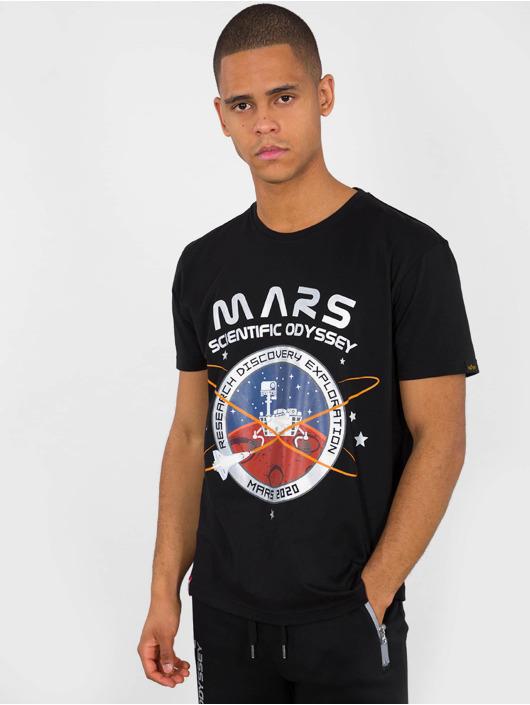 Alpha Industries T-Shirty Mission To Mars czarny