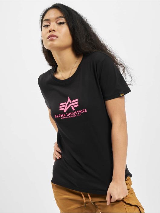 Alpha Industries T-Shirty New Basic Neon Print czarny