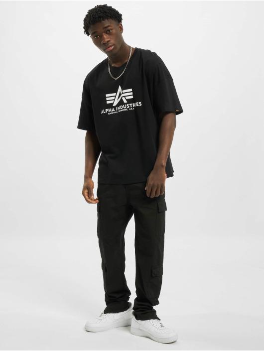 Alpha Industries T-Shirty Basic OS Heavy czarny