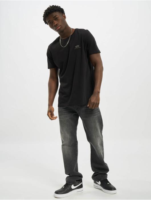 Alpha Industries T-Shirty Backprint Reflective czarny