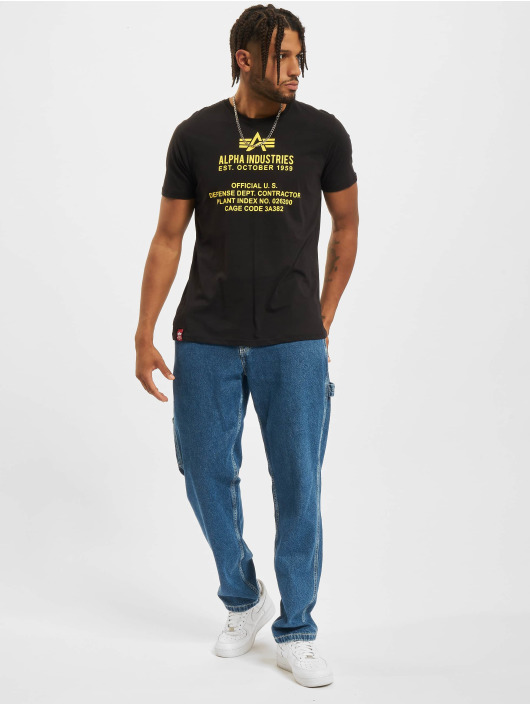 Alpha Industries T-Shirty Fundamental czarny