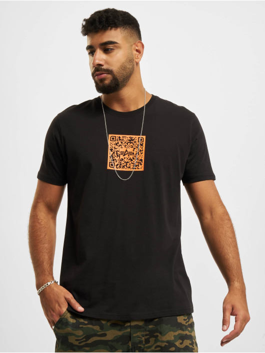 Alpha Industries T-Shirty Qr Code czarny