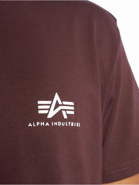 Alpha Industries T-Shirty Basic Small czerwony