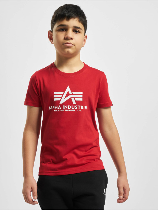 Alpha Industries T-Shirty Basic czerwony