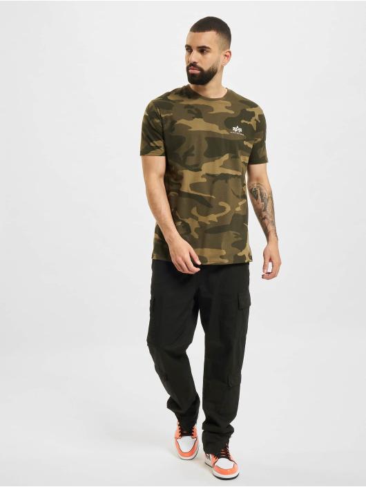 Alpha Industries T-Shirty Backprint  Camo moro