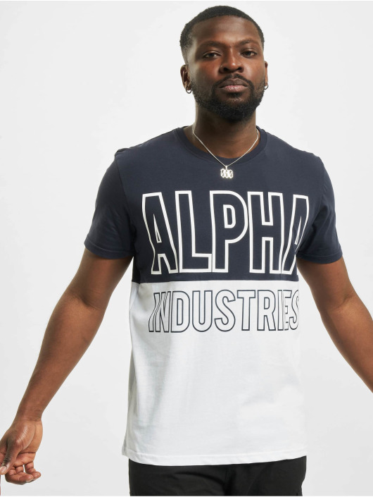 Alpha Industries T-Shirty Block niebieski